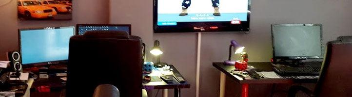 Video kurgu montaj stüdyosu odası